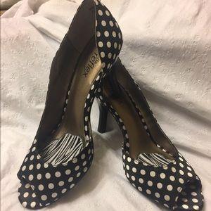 Black & White Polka Dot Heels